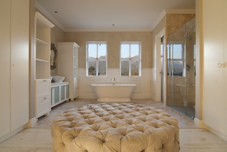 Main bathroom within a modern house photo