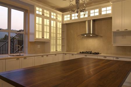 Empty kitchen inside a modern house Stock Photo - 10715515