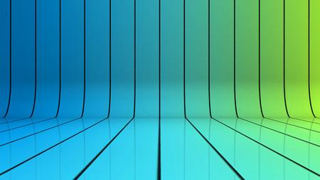 lineas rectas: Fondo brillante con líneas que se curvan hacia arriba Foto de archivo