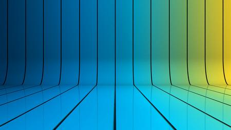 azul marino: Fondo brillante con líneas que se curvan hacia arriba Foto de archivo