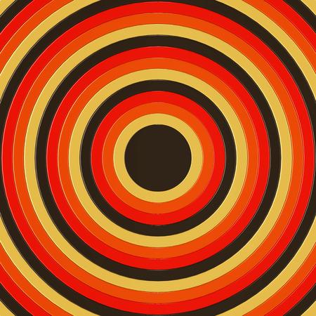 circulos concentricos: 3D hacen de los círculos concéntricos de color marrón, naranja y amarillo incresing de tamaño, llenando todo el marco Foto de archivo