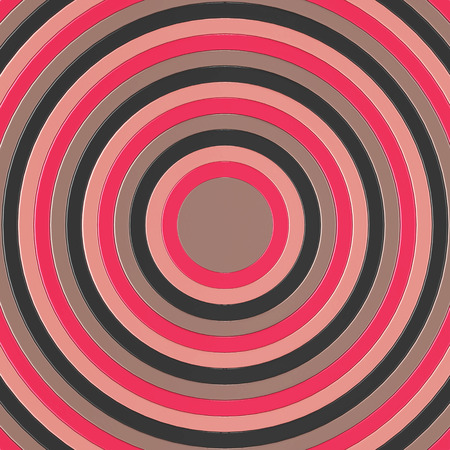 3D render of pink and grey concentric circles incresing in size, filling the entire frame