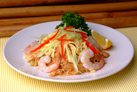 Asian fried rice noodles - malaysian food