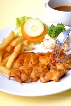 Chicken chop photo