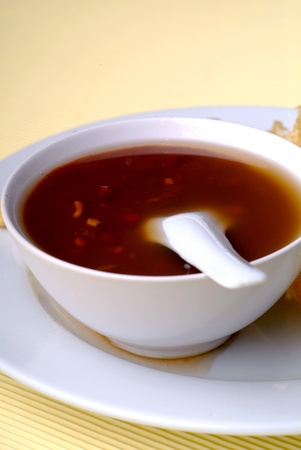 chinese bowl: Red bean soup