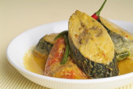 malay food: Curry fish