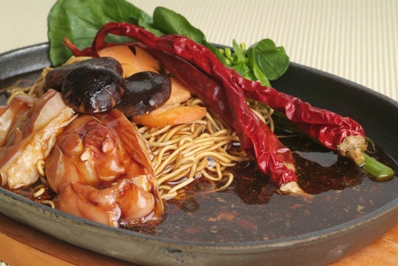 sizzling: chinese food, sizzling crispy noodle
