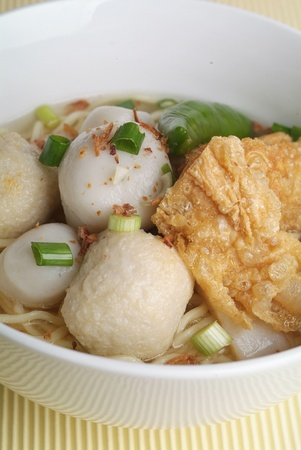 noodle with yong tau foo photo