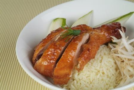 pollos asados: Arroz de pollo asado Foto de archivo