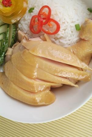 steamed: Steamed chicken rice