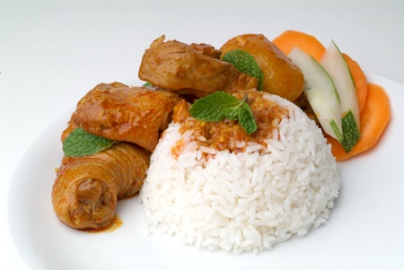 Chicken curry with rice  photo