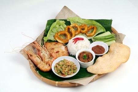 Nasi lemak - malaysian food photo