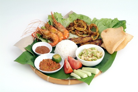 indonesia people: Nasi lemak - malaysian food Stock Photo
