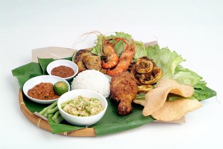 malaysian food: Nasi lemak - malaysian food Stock Photo