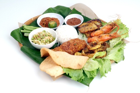 lemak: Nasi lemak - malaysian food Stock Photo