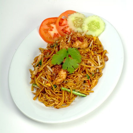 goreng: mamak fried noodle - malaysian food