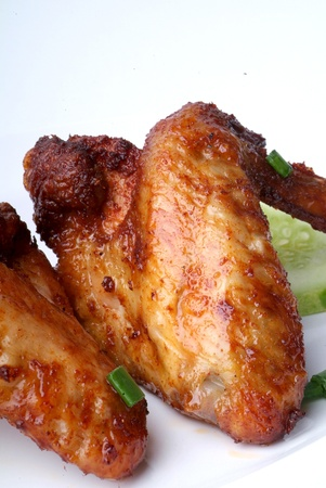 Fried chicken wing - malaysian food Stock Photo - 9267564
