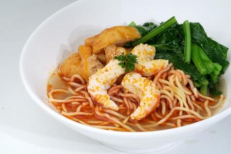Prawn mee - malaysian food photo