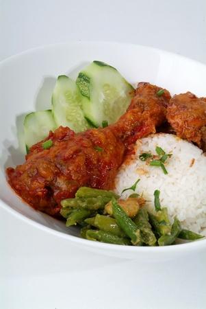 lemak: nasi lemak - malaysian food