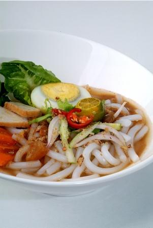 assam: assam laksa - rice noodles