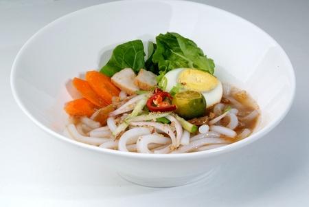 laksa: assam laksa - rice noodles