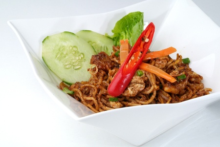Spicy Malaysian style fried noodles.  photo
