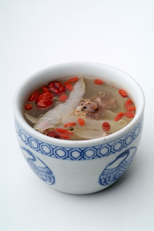 china cuisine: chinese herbal soup  Stock Photo
