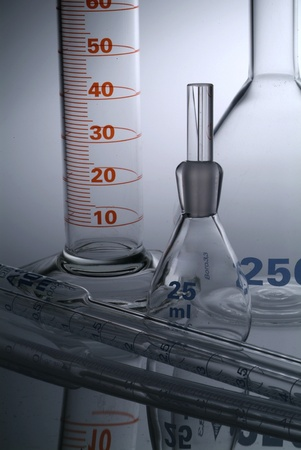 Chemical flasks photo
