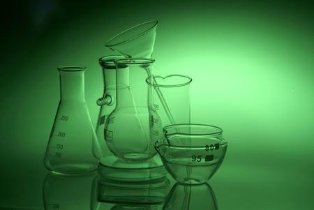 acido: Qu�micos frascos Foto de archivo
