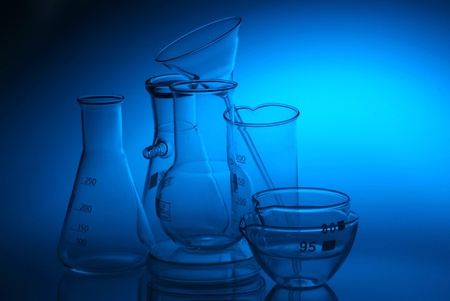 Chemical flasks photo