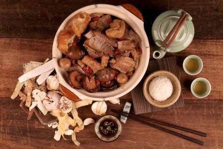Malaysian stew of pork and herbal soup, ba kut teh.