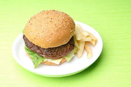 fresh and tasty hamburger  photo