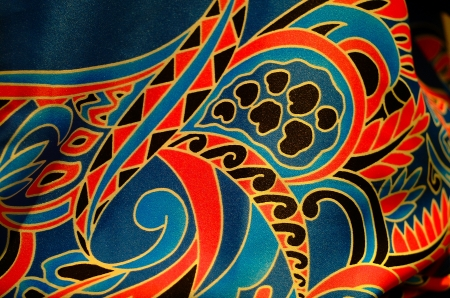 indonesia culture: batik Stock Photo
