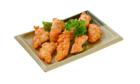 half stuff: Fishcakes isolated on white