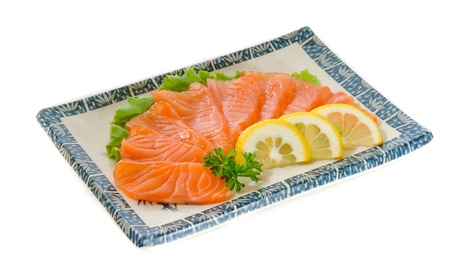 raw Salmon fish photo