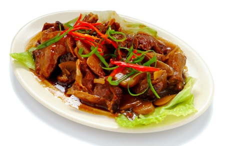 plat chinois: chinese food de poulet