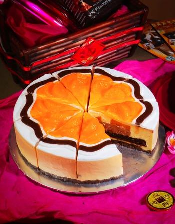 chinese new year orange cake Stock Photo - 12648364