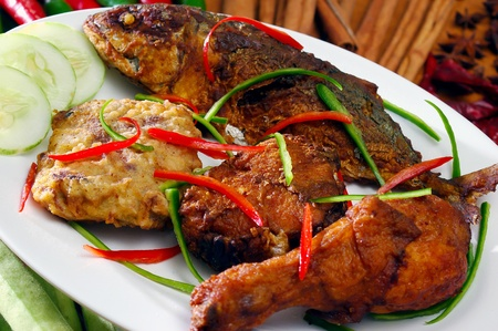 malaysian people: asia food and grilled food malaysia Stock Photo