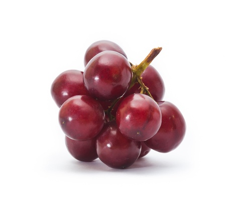 red grape isolated on white photo