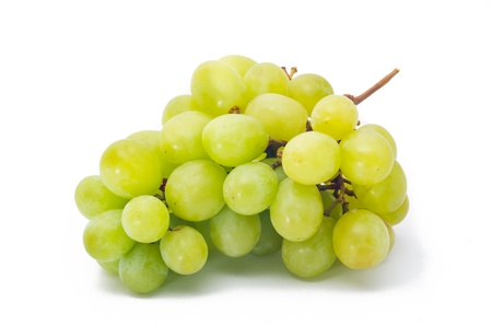 grapes Isolated on the white photo
