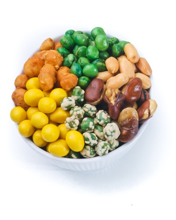Nuts Mixed on white background Stock Photo - 12947492