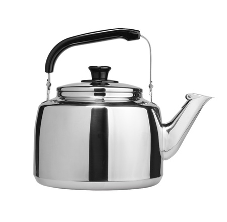 boiling: kettle isolated on white background Stock Photo