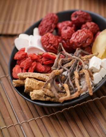 Chinese herbal. Different kind of Chinese herbal photo