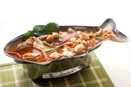 Thai Food Tom Yum seafood Stock Photo - 13152741