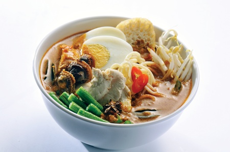 Curry Chicken Noodles malaysia food photo