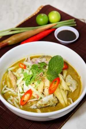 Laksa is traditional food in Malaysia photo