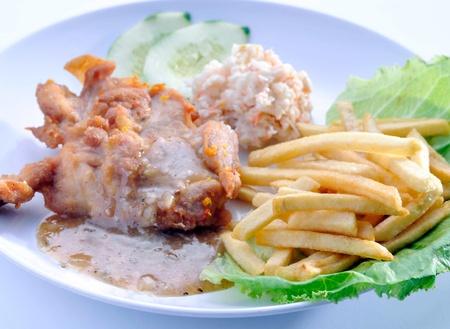 Chicken Steak with a vegetables photo