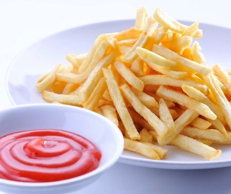 French Fries on a white background photo