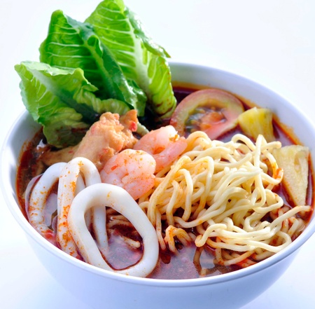 Prawn noodle - Malaysian food spicy noodles Stock Photo - 13202448