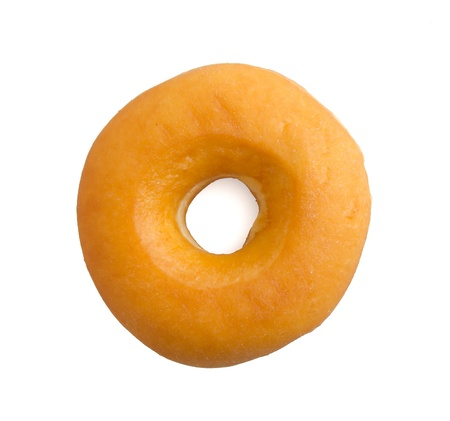 donut isolated on white background photo